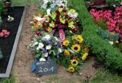 Grabstelle Parkfriedhof Neukölln nach Beisetzung
